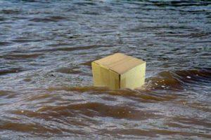 Cardboard floating