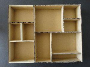 Cardboard box shelves