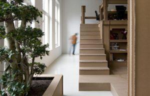 Cardboard stairs