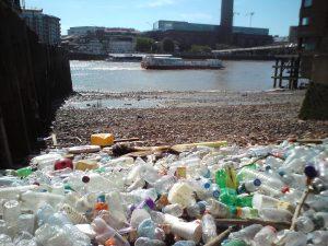 Thames litter
