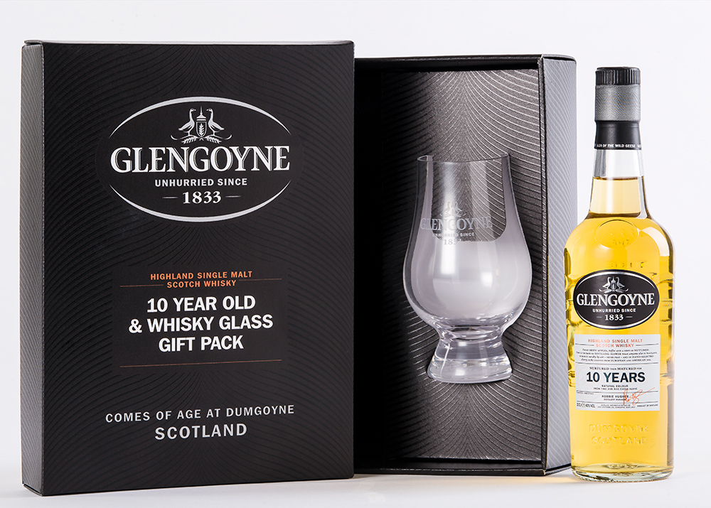 Glengoyne presentation pack developed and printed by Caps Cases.