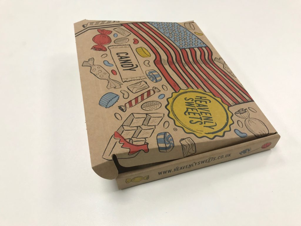 Heavenly Sweets delivery carton by Caps Cases.