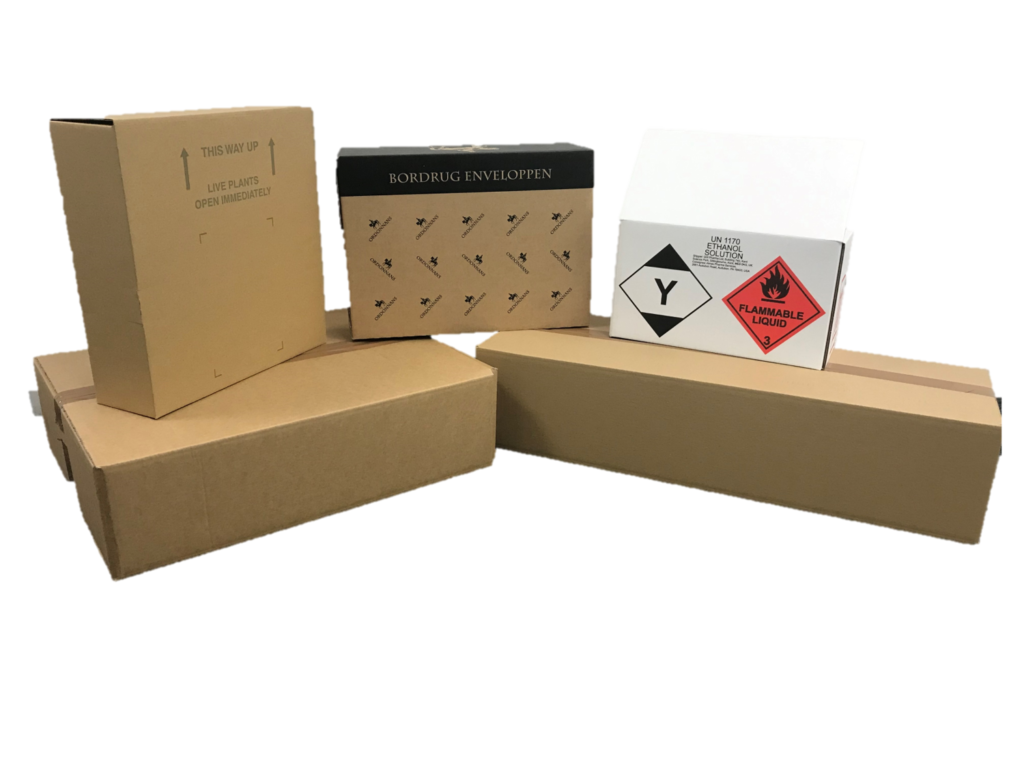 Cardboards boxes designed, printed and manufactured - Caps Cases, Newmarket & Glasgow.