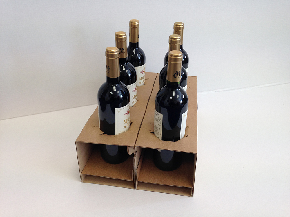Wine packaging for safe delivery. Caps Cases - Glasgow & Suffolk.